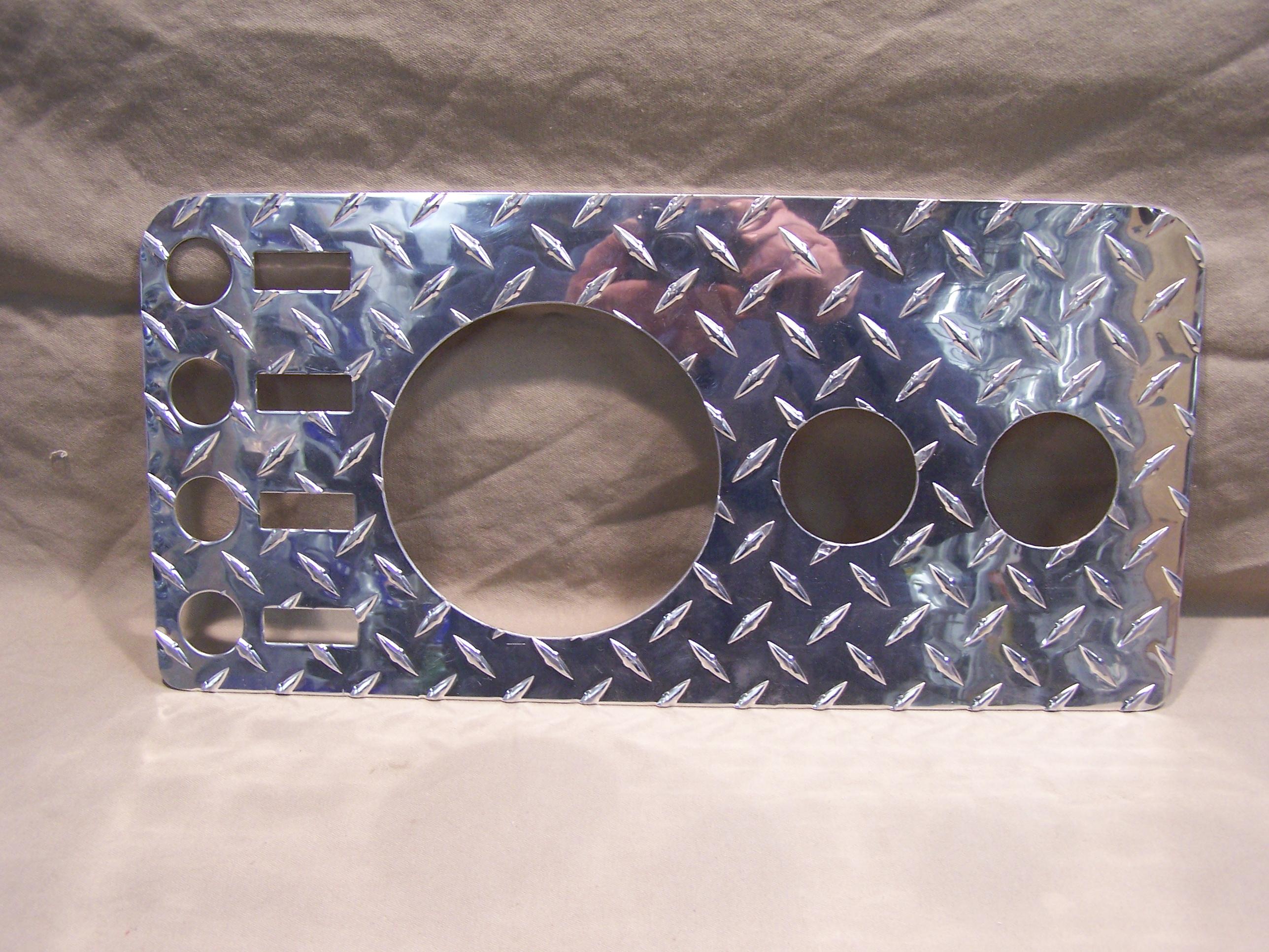 Interior Accessories Jeep Commando Dash Diamond Plate Gauge Cover
